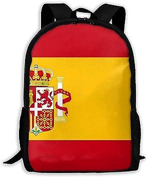 Lmtt Mochila España Bandera Mochila Casual Bolsa de Viaje para Adolescentes niños niñas: Amazon.es: Deportes y aire libre