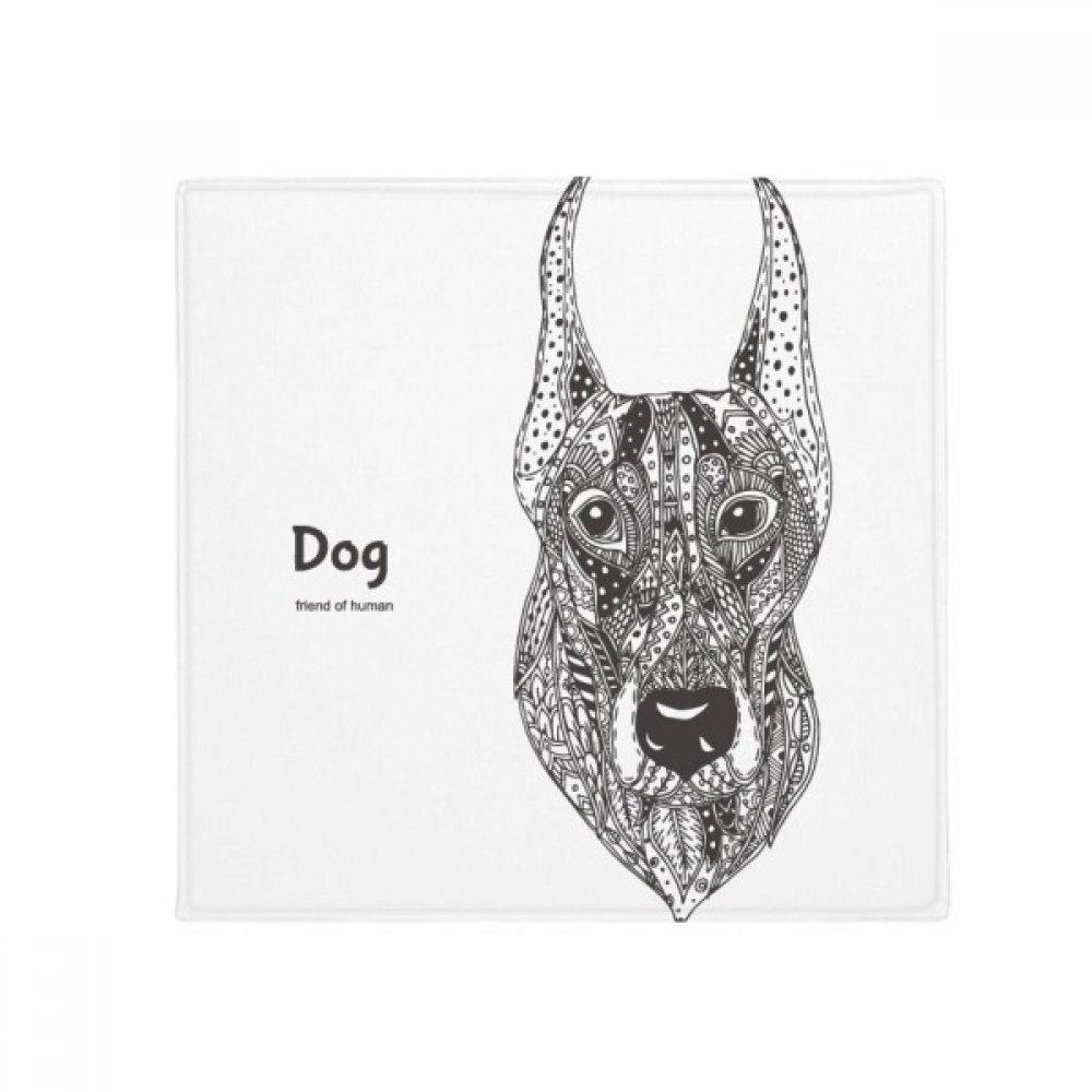 DIYthinker Paint Dog Fierce Friend Company Anti-Slip Floor Pet Mat Square Home Kitchen Door 80Cm Gift