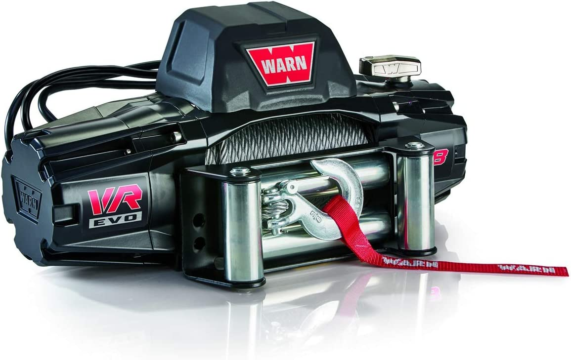 Capacity 8,000 lb WARN 103250 VR EVO 8 Standard Duty Winch with Steel Cable