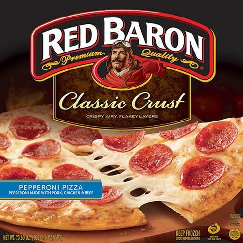 Red Baron Classic Crust Pepperoni Pizza, 12 inch -- 16 per case.