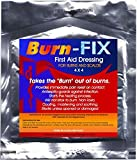 Burn-FIX- 2 Pack-Burn Care Treatment & First Aid Hydrogel Dressing. Immediate Pain Relief Gel/Cream For First & Second Degree Burns, Chemical, Electrical, Grease, Razor and Sunburns. 4 X 4 in.