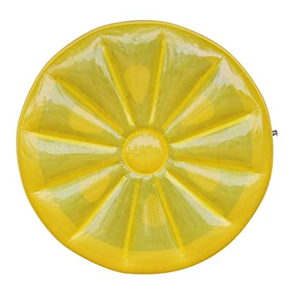 Selm Colchon Inflable Cama Flotante Inflable Limón Amarillo ...