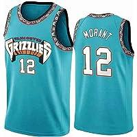 Lvlo Baloncesto NBA Uniforme, Ja Morant # 12, Memphis Grizzlies, Unisex Camiseta sin Mangas, Alero Jersey