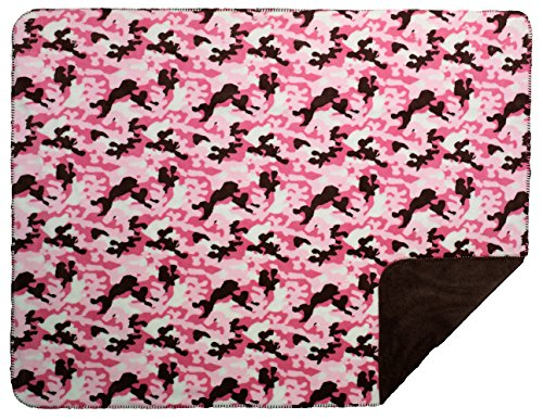 (FactoryDepot Denali Camouflage pink taupe Micro-plush Throw Blanket 50x60 throw)