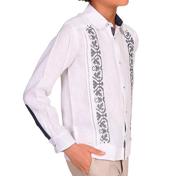 diseño de moda venta limitada diseño superior ABITO Guayabera Yucateca Manga Larga para Niño de Lino ...