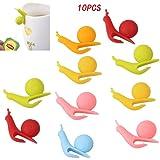 BoNaYuanDa 10 PCS Snail Shape Silicone Cup Mug Tea Bag Holders for Hanging Tea Bag,Wine Glass Marker Charms