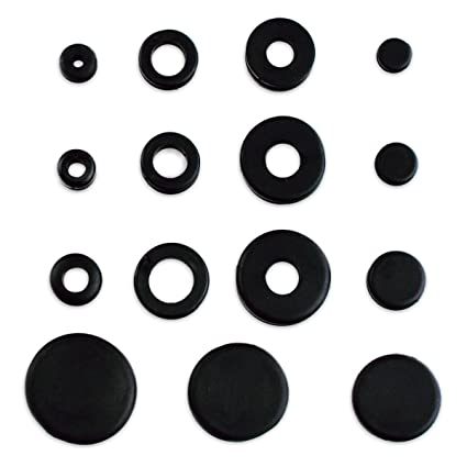 125pc Rubber Grommet & Plug ortment - Includes Solid Plugs ... on wiring conduit, wiring bolts, wiring terminals, wiring switches, wiring lamps, wiring batteries, wiring covers, wiring plugs, wiring accessories, wiring nuts, wiring electrical,