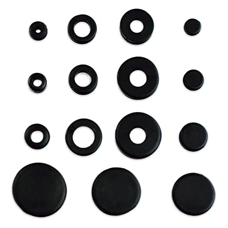 125pc Rubber Grommet & Plug Assortment - Includes Solid Plugs - Automotive,  Airplane, Marine Applications