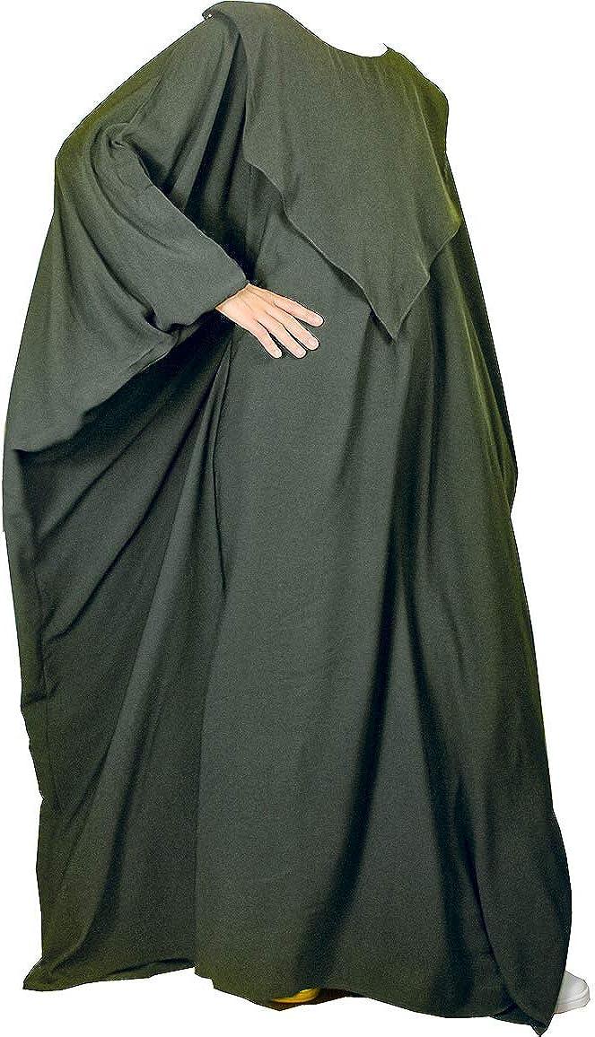confectionsoumk Abaya Mariposa de Maternidad - Maxi Vestido de Lactancia Materna y Lactancia Materna para bebés Maternidad - Apertura Vertical - Traje ...