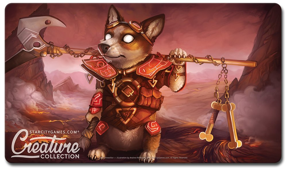 Star City Games Creature Collection Playmat - Corgi Firewalker