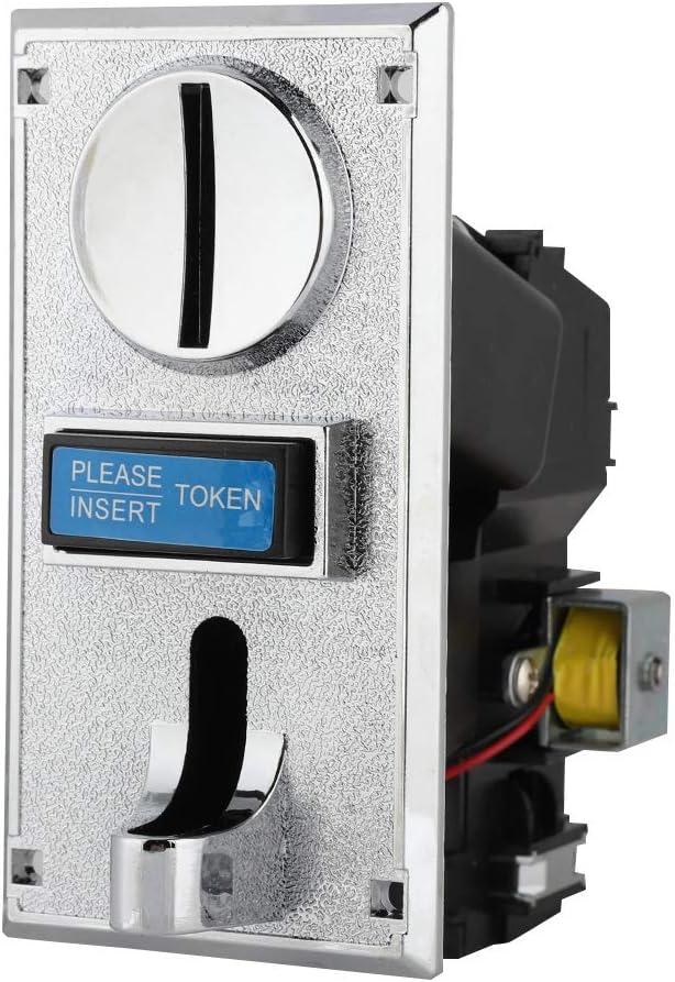 Aceptador de monedas, máquina tragaperras de juegos Ranura inteligente de monedas, multitareas, multifunción, Salida de señal de velocidad de pulso de 3 pasos, N.O.y N.C. Ajustes del interruptor de sa
