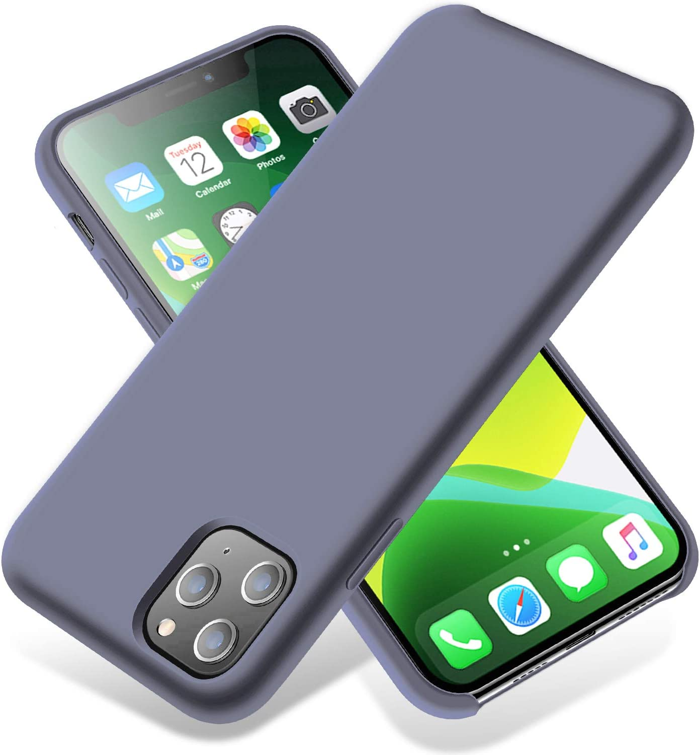 LZEB Silicone Case Compatible with iPhone 11 Pro Max Case 6.5 inch, Liquid Silicone Phone Case (with Microfiber Lining) Full Body Thickening Design for iPhone 11 Pro Max 6.5 2019 (Midnight Blue)