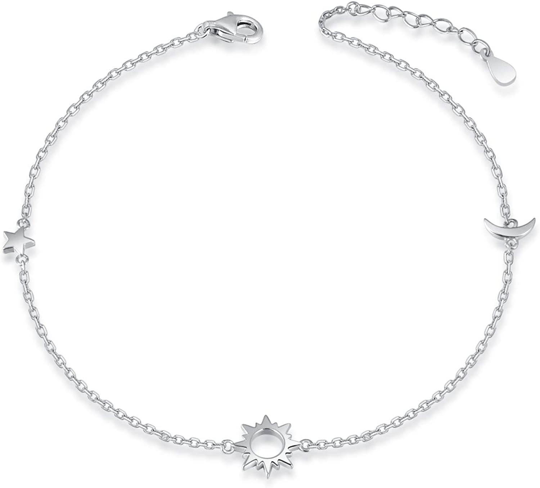 Sun Charm Sun Sun Jewelry Sterling Silver Adjustable Bracelet Sun Bracelet Bracelet Silver Bracelet Silver Sun Friendship Bracelet