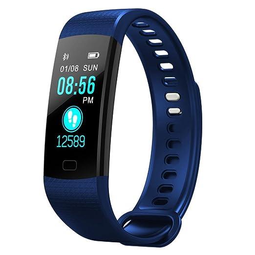 Monitor De Frecuencia Cardíaca Smartwatch Impermeable Reloj Inteligente con Cámara Bluetooth Tactil Telefono Sport Fitness Tracker Pulsera Inteligente para ...