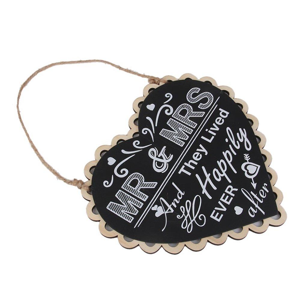 /Placa para colgar con hombre y mujeres letras rosenice boda Coraz/ón Pizarra/