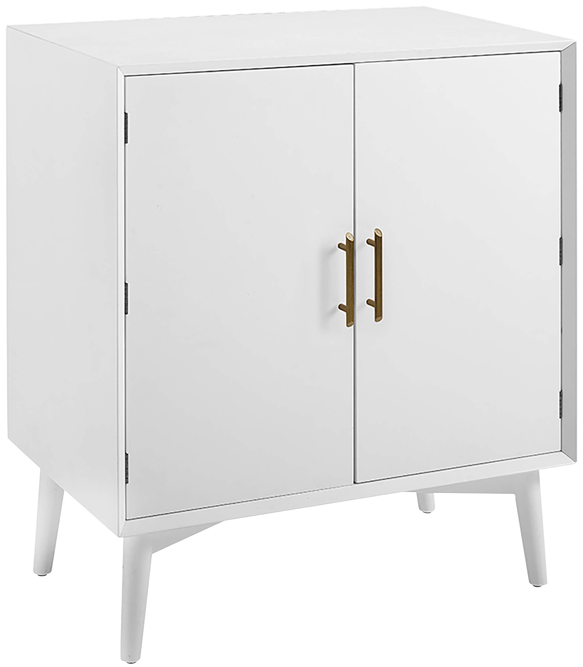 Crosley Furniture Landon Mid-Century Modern Bar Cabinet, White by Crosley Furniture