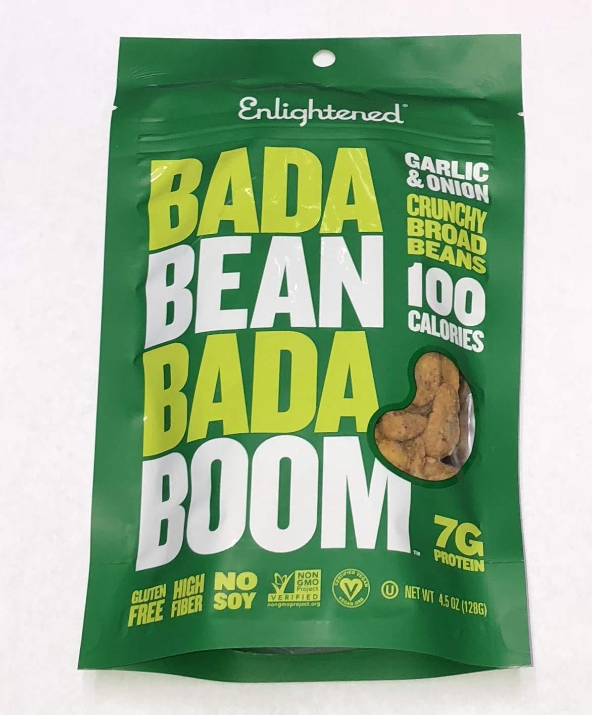 ENLIGHTENED BROAD BEAN (FAVA BEANS) CRISPS 6-4.5 oz BAGS (GARLIC & ONION)