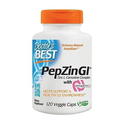 Doctors Best PepZin GI, 37.5mg, 120 Vegetarian Capsules (37.5mg, 120