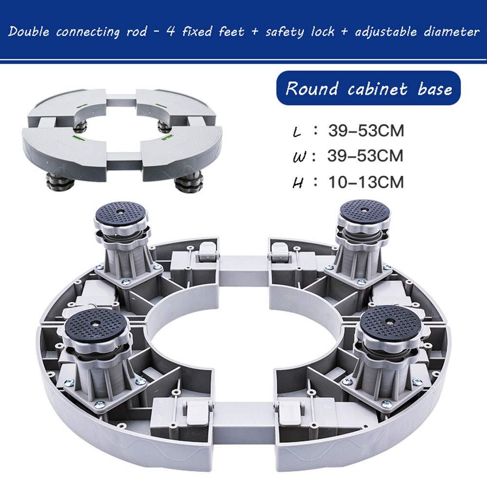 ラウンド空調ベース、チラー増設収納シャーシ、ラウンドキャビネットマシン、高さ調節可、重量調節可、約500kg 4 fixed feet gray B07MN28673