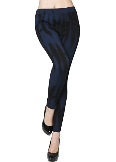 de75f4d3ce32f Yelete Lady's Tie Dye Fashion Jegging (Small) at Amazon Women's ...