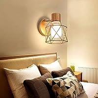 WOOU Aplique de Pared Iluminación Industrial Aplique Ajustable Apliques rústicos con Cable de Alambre Jaula de Metal Lámpara de Pared Interior Hogar Retro Luminaria (Bronce frotado con Aceite)