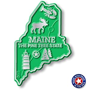 Maine State Map Magnet