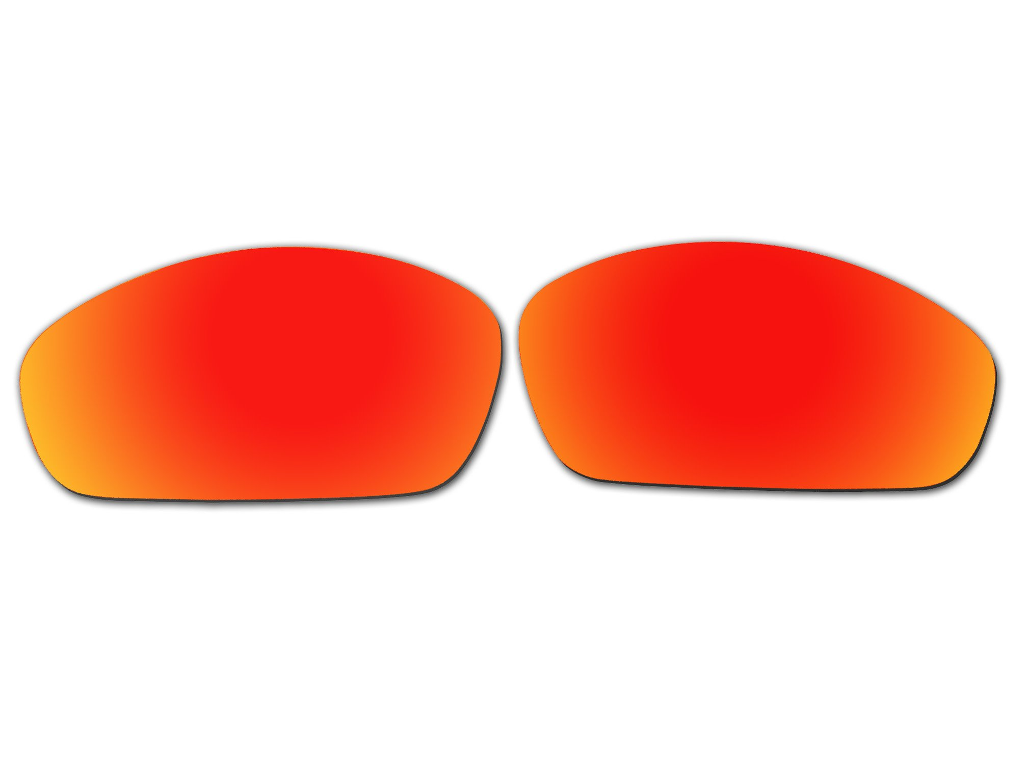 Polarized Replacement Sunglasses Lenses for Oakley Straight Jacket 2007 with UV Protection(Fire Red Mirror)