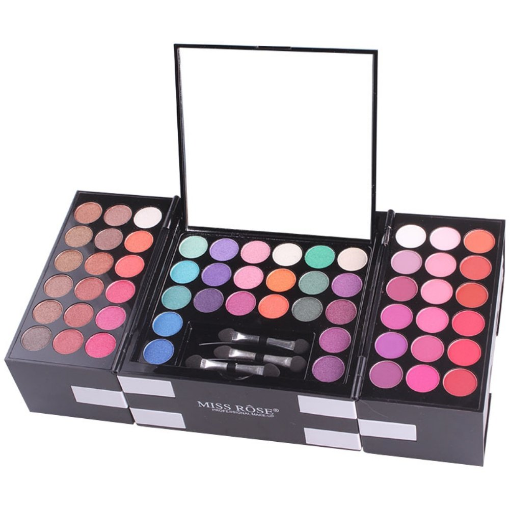 ROMANTIC BEAR 3D Makeup Palette Box,Includes 142 Colors Eyeshadow,3 Colors Eyebrow and 3 Blush Powder,Colorful Shimmer and Matte Eyeshadow Types for Professional Use
