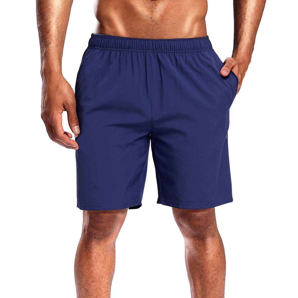 CAMEL CROWN Running Shorts Men Pockets Quick Dry Light Breathable Athletic Shorts for Gym Basketball Workout Active TrainingDark Blue XL 1 Pack
