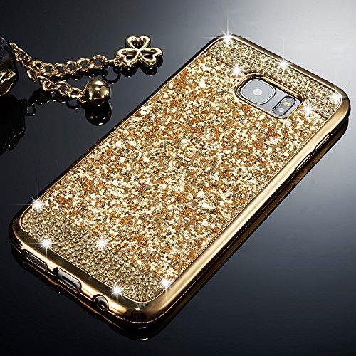 d52b330b736 ZCDAYE Samsung Galaxy S6 Case,Bling Glitter [Crystal Rhinestone Diamond]  Soft TPU Rubber