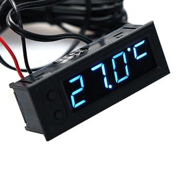 Dchaochao - Reloj multifunción para coche, temperatura de la batería, voltímetro, voltímetro CC 12 V -35~120 °C, color azul: Amazon.es: Salud y cuidado ...