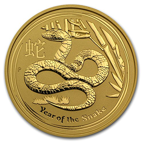 2013 AU Australia 2 oz Gold Lunar Snake BU (Series II) Gold Brilliant Uncirculated ()