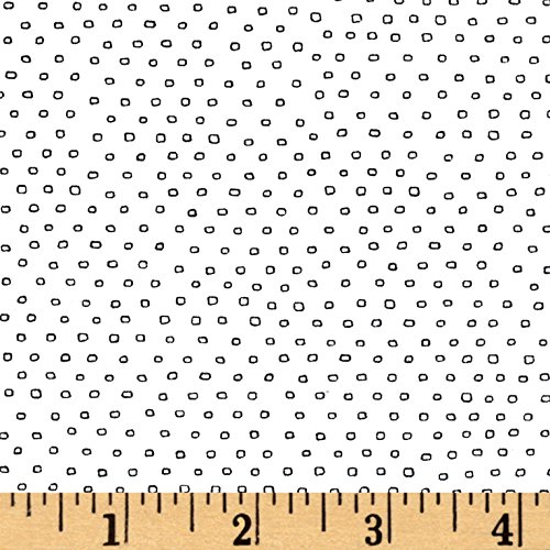 Quilting Treasures Pixie Square Dot White Fabric By The Yard