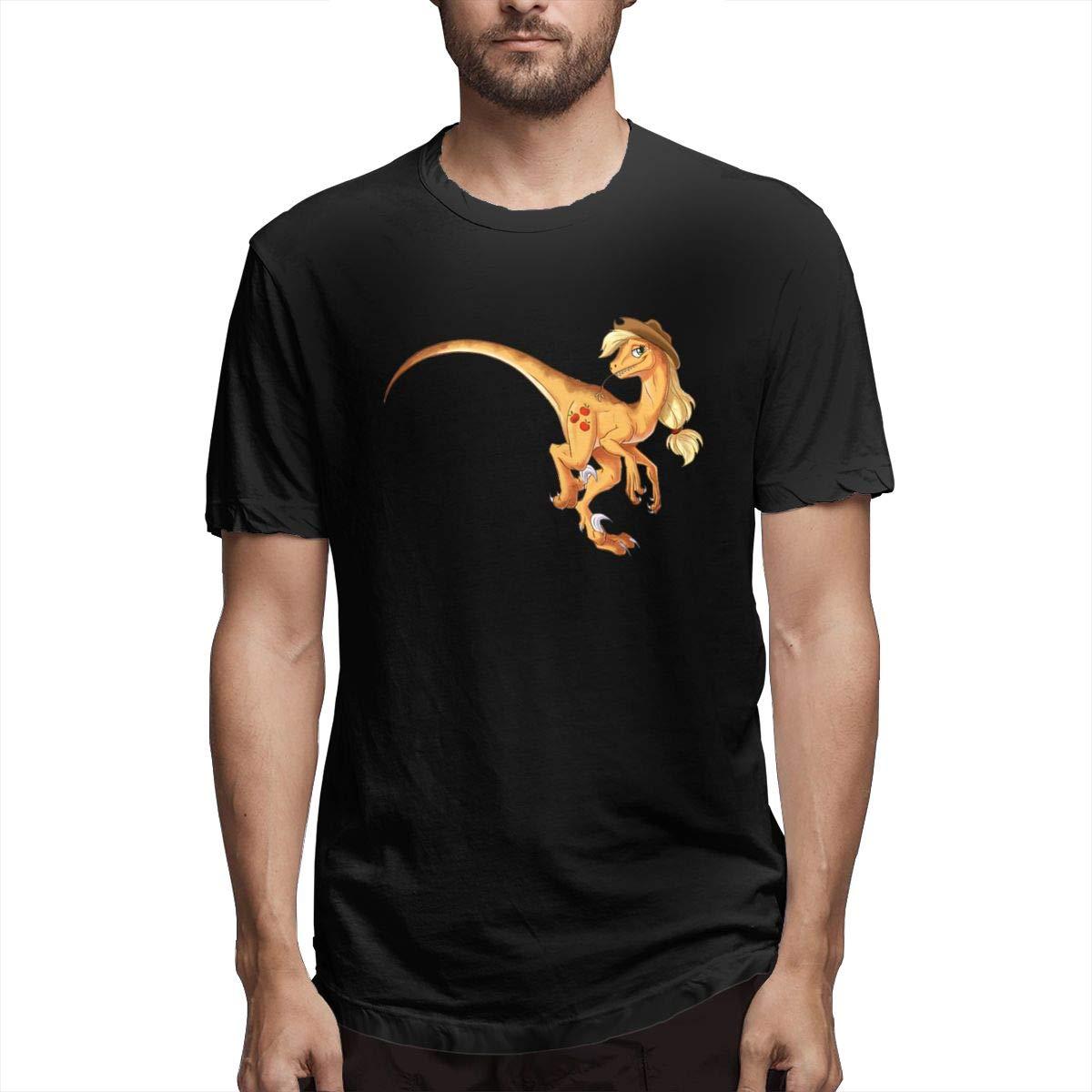 Xuforget Mens Dinosaur Love Weekend Short Sleeve Shirts Cotton Tops