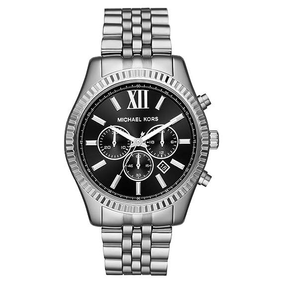 Michael Kors Reloj Analogico para Hombre de Cuarzo con Correa en Acero Inoxidable MK8602: Amazon.es: Relojes