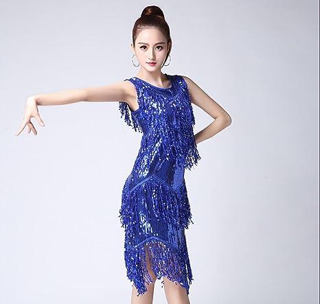 Falda de Baile Latino Adulto Vestido de Etapa Femenino Traje de ...