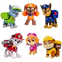 Indusbay Rescue Mission Paw Pups Set of 6 - Paw Pups Marshall , Chase , Rubble, Zuma, Skye & Rocky 3 inches Height