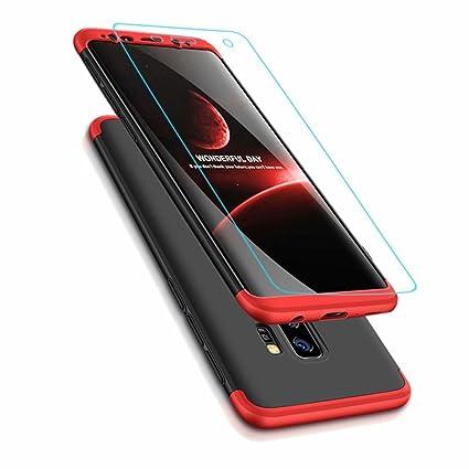 Funda Samsung Galaxy A6 Plus/A9 Star Lite 2018, Carcasa Samsung Galaxy A6 Plus/A9 Star Lite 2018 con [ Cristal Templado] 3 en 1 Desmontable 360 Grados ...