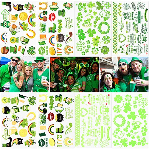 3e5d8f00 Shamrock Tattoos for St. Patrick's Day 8 Sheets, Over 140 Tattoos with  Shamrock,