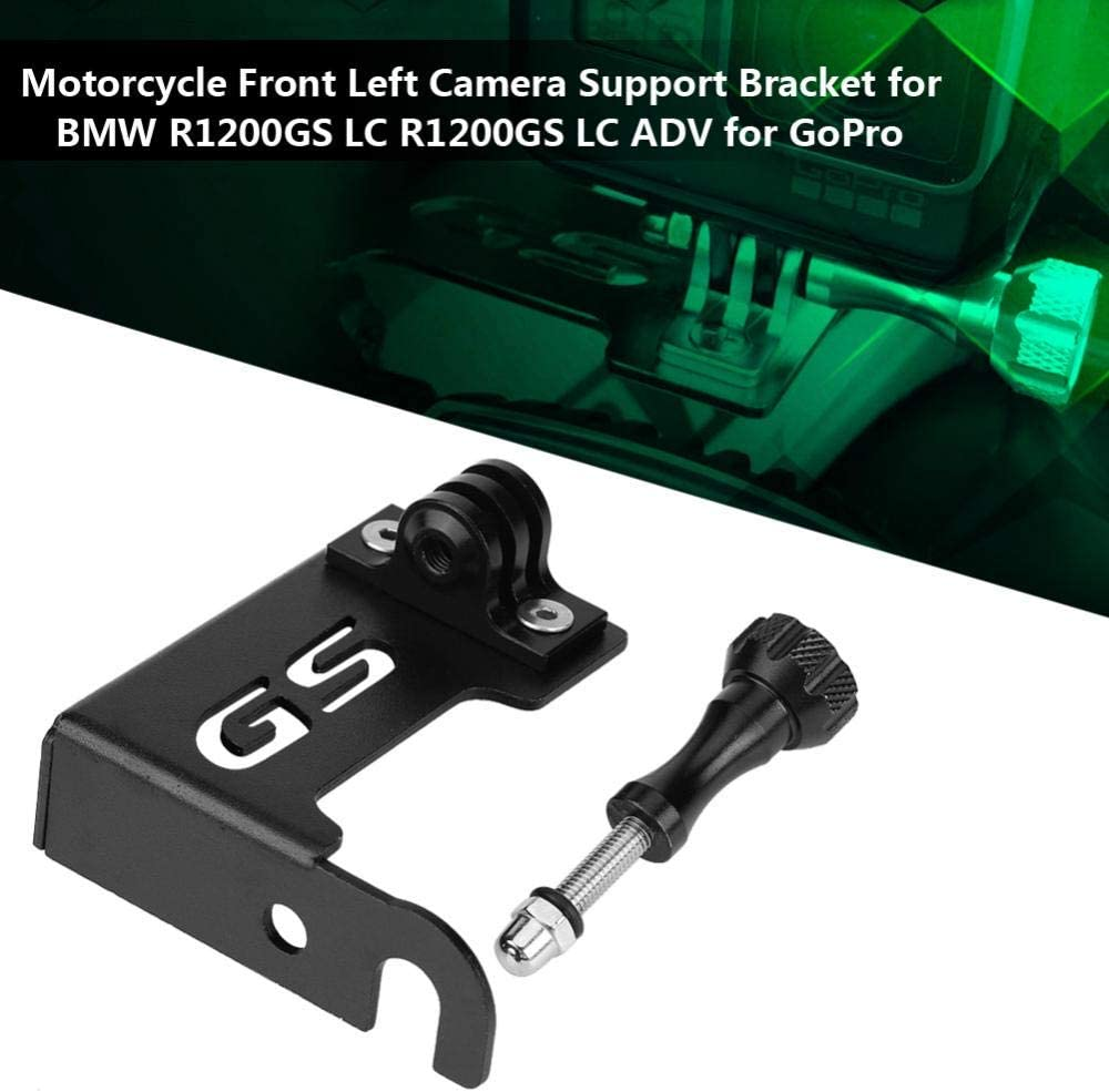 Motorcycle Camera Mount Holder silver Motorcycle Camera Clamp Mount Bracket Motorcycle Front Left Camera Support Bracket for R1200GS LC R1200GS LC ADV