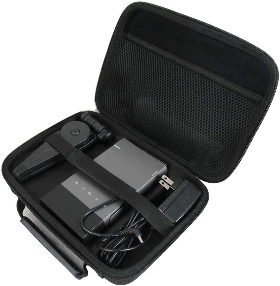 Adada Hard Travel Case for Vamvo / ELEPHAS Ultra Mini Portable Projector 1080p Supported HD DLP LED Rechargeable Pico Projector