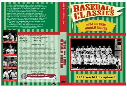 1934 & 1935 World Series Baseball - 1934 Baseball