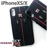 エアージェイ ニスモ nismo GT-R 公式ライセンス品 iPhoneXS iPhoneX 本革 ケース テンエス 背面カバー アイフォンケース iPhoneケース 日産 バックレザー カーブランド NR-P18S-S1 BK