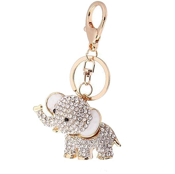 Added Sparkle Crystal Lucky Elefante Llavero Bolsa o Encanto ...