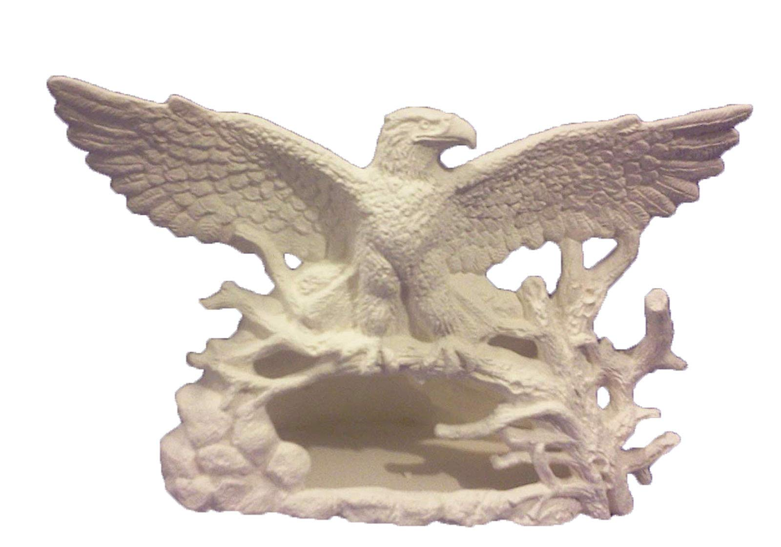Creative Kreations Ceramics Eagle Chimnea 7'' Ceramic Bisque, Ready To Paint