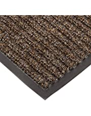 """NoTrax T39 Bristol Ridge Scraper Carpet Mat, for Wet and Dry Areas, 4' Width x 6' Length x 3/8"""" Thickness, Coffee"""