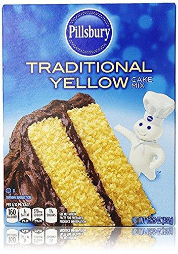 - Pillsbury Traditional Yellow Cake Mix 15.25 Oz (Pack of 2)