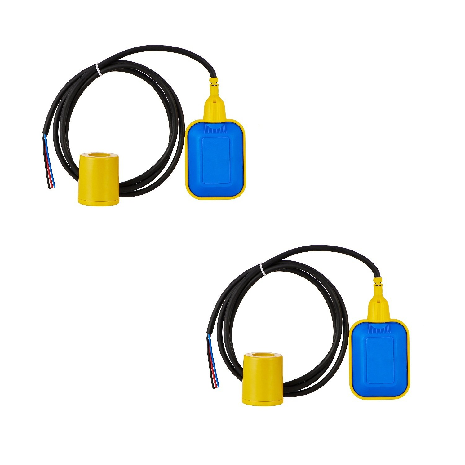 SCIENTIFIC DEVICES Cable Float Level Switch (2 m, Medium, Blue and Yellow)-Pack of 2 product image