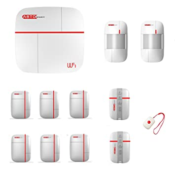 SZABTO Système de protection de sécurité domestique GSM et WLAN à double  protection sans fil Télécommande 3dfb8aa1369f