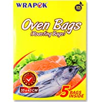 WRAPOK Oven Cooking Turkey Bags Small Size Ribs Baking Roasting Bags No Mess For Chicken Meat Ham Poultry Fish Seafood…